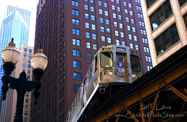 """The 'L' by Jeff Lewis - Ah, the L, as in eLevated train. As a rapid transit system, the L is the the 2nd longest in total track mileage in the United States, after NYC Subway, the 3rd busiest after NYC Washington, DC's Metro, and the 2nd oldest, after NYC. In a 2005 poll, Tribune readers voted it one of the """"7 wonders of Chicago,"""" behind the Lakefront & Wrigley Field but ahead of Sears/Willis Tower, the Water Tower, the U of C, & the Museum of Science & Industry. (and it's not all elevated…"""