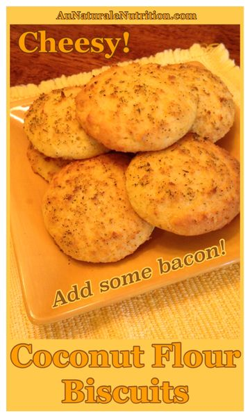 Cheesy Bacon Biscuits! (Low-carb, gluten free, paleo/primal). PLus, cooking healthy with bacon fat, YUM! By www.AuNaturaleNutrition.com