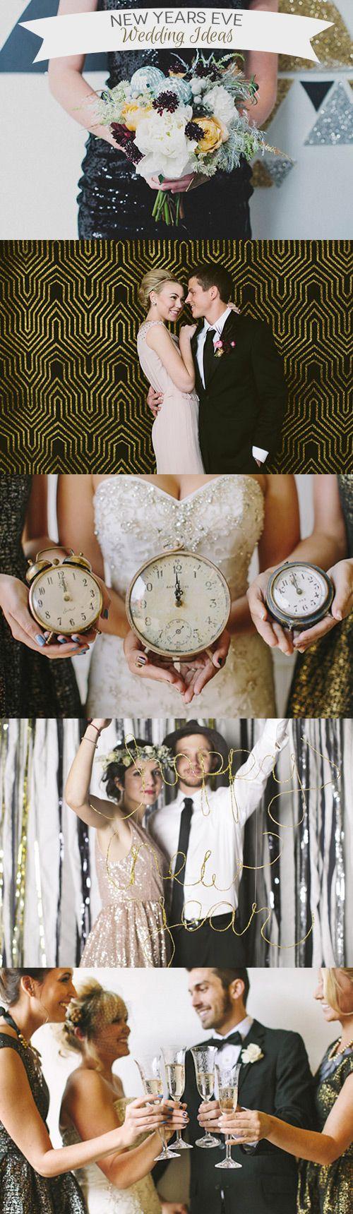 17 Simply Stylish New Years Eve Wedding Ideas | Simple ways to make your New Years Eve wedding sparkle | www.onefabday.com