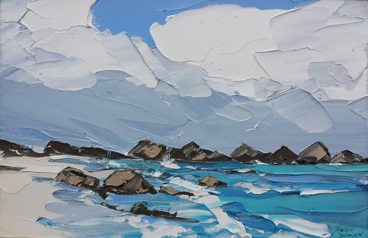 Matthew Snowden (UK b. 1969)Windy Day, North Beach, Ionaacrylic on canvas 40 x 60cm