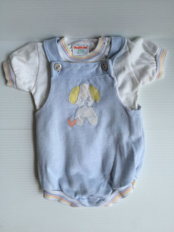 BABY BOY ROMPER, Vintage white and blue Health-tex outfit, short sleeve baby romper,vintage boy's clothes, baby boy's clothes, baby boy gift - pinned by pin4etsy.com