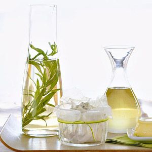 Tarragon Vinegar Allow 1 to 2 weeks between preparation and use of this flavorful alternative to plain vinegar. Try it on your favorite salad.