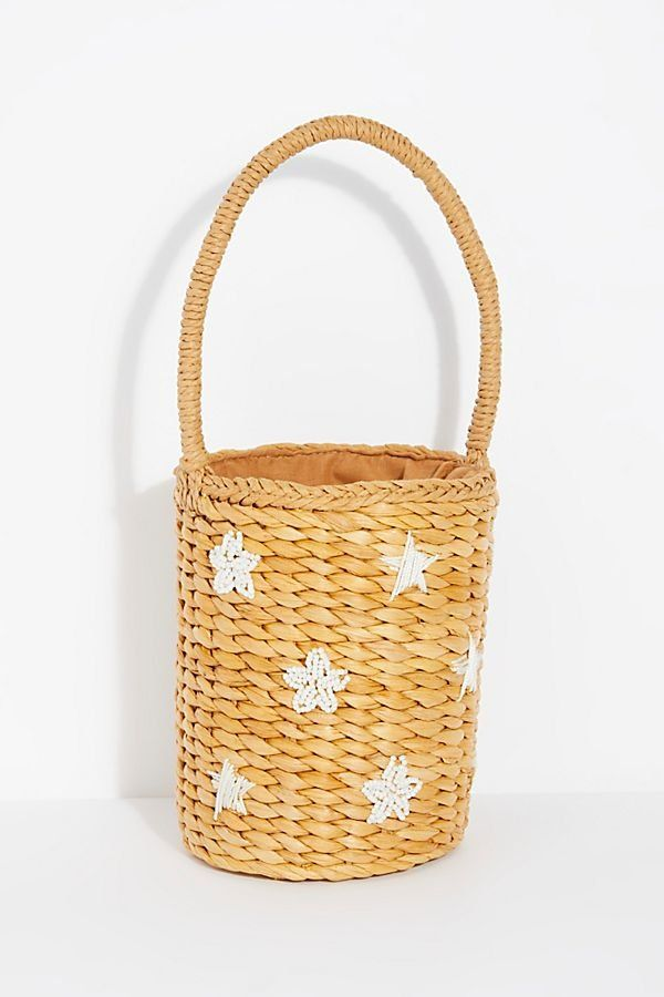 597d5a3f8b9 Simone Straw Bucket Bag | Bags | Bags, Bucket bag, Embroidered bag