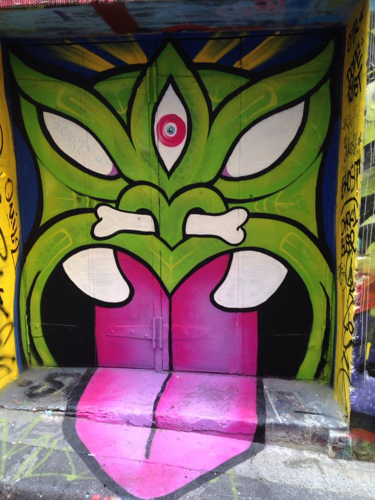 Taniwha Street art Melbourne