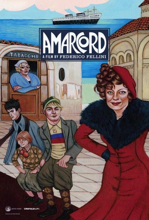 Federico Fellini's Amarcord (1973) Beautiful artwork by San Francisco-based painter Caitlin Kuhwald