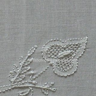artisticfingers: Chikan embroidery