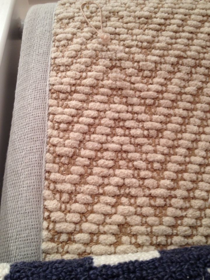 Chenille Jute Rug With Gray Border. Pottery Barn Kids