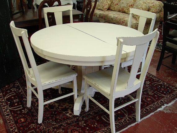 94 Distressed Pale Blue Shabby Table And Chairs With