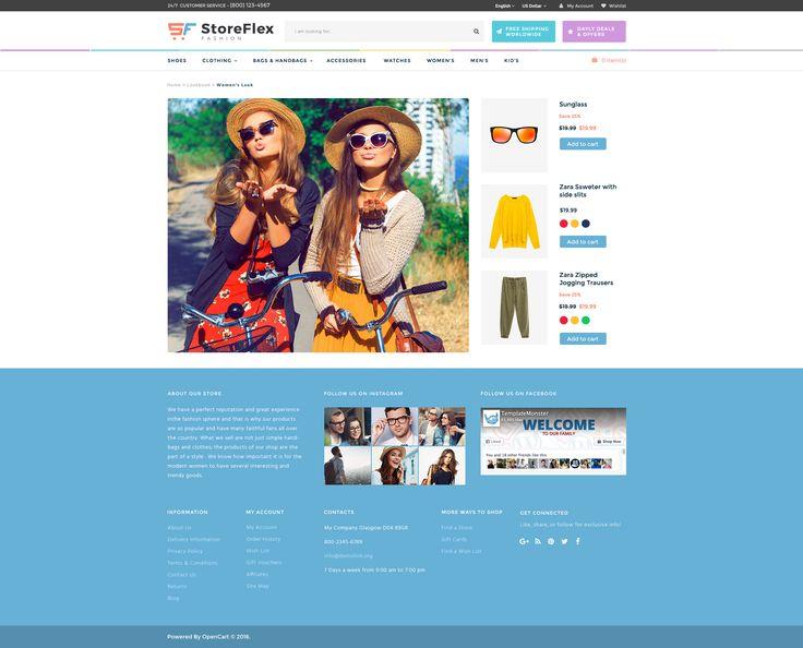 13 best storeflex opencart theme images on pinterest templates lookbook page in storeflex opencart theme httptemplatemonster pronofoot35fo Choice Image