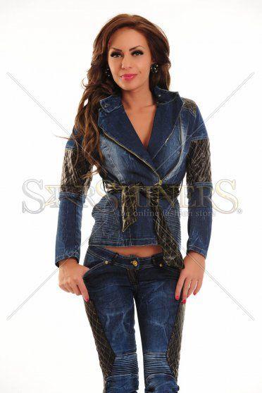 Jacheta Ocassion Precious Leather Blue