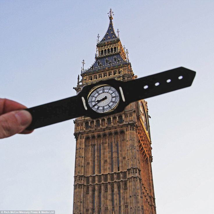 McCor's first attempt at transforming a traditionally well-recognised London landmark - Big Ben - happened earlier this year, using a paper watch strap to obscure the clock face