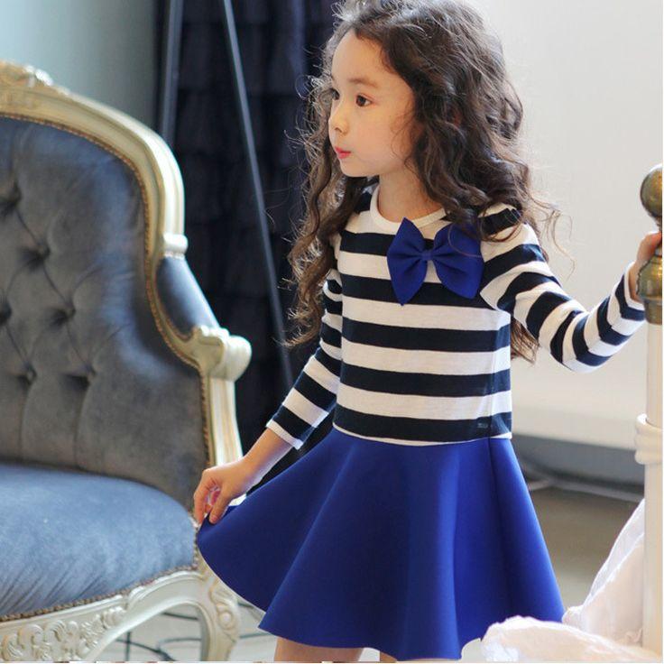 $13.21 (Buy here: https://alitems.com/g/1e8d114494ebda23ff8b16525dc3e8/?i=5&ulp=https%3A%2F%2Fwww.aliexpress.com%2Fitem%2F2016-Spring-Winter-Baby-Flower-Girls-Striped-Bow-Princess-Dress-Children-Wedding-Party-Tutu-Dresses-Kids%2F32678644540.html ) 2016 Spring Winter Baby Flower Girls Striped Bow Princess Dress Children Wedding Party Tutu Dresses Kids Fashion Clothes for just $13.21