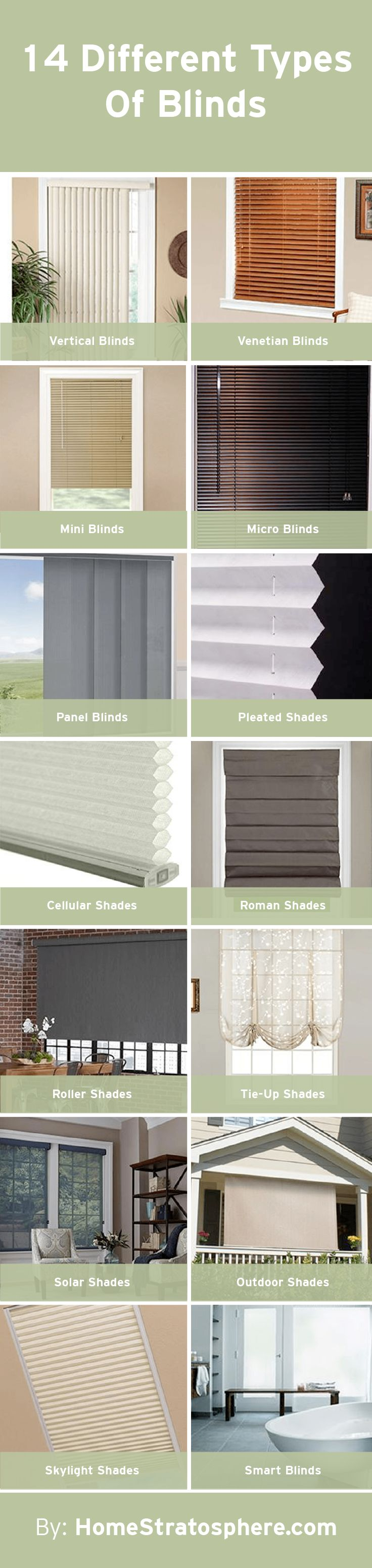 Snow white thermal fabric roman shades free shipping on orders over - 14 Different Types Of Blinds Extensive Buying Guide