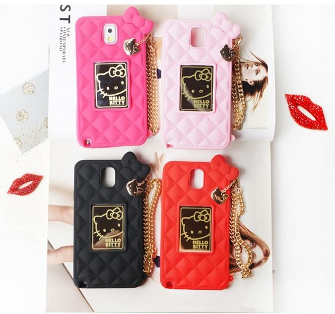 Hello Kitty Mirror Bag Mobile Case for Galaxy S5