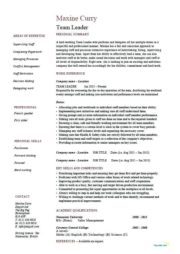 Resume Examples Leadership Resume Examples Teacher Resume Examples Project Manager Resume Resume Skills