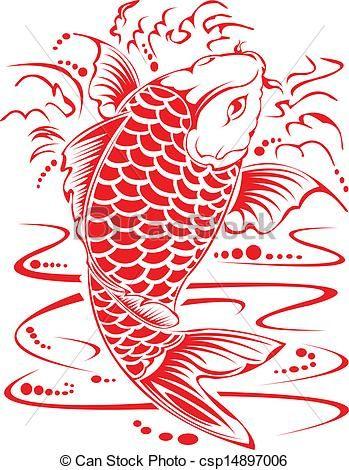 Вектор - Китайский дизайн кои.  - Иллюстрации, роялти иллюстрации, акции клип значок искусство, акции клипарт иконы, логотип, линии искусства, EPS картину, картины, графика, графика, рисунок, графика, векторное изображение, иллюстрации, EPS векторной графики