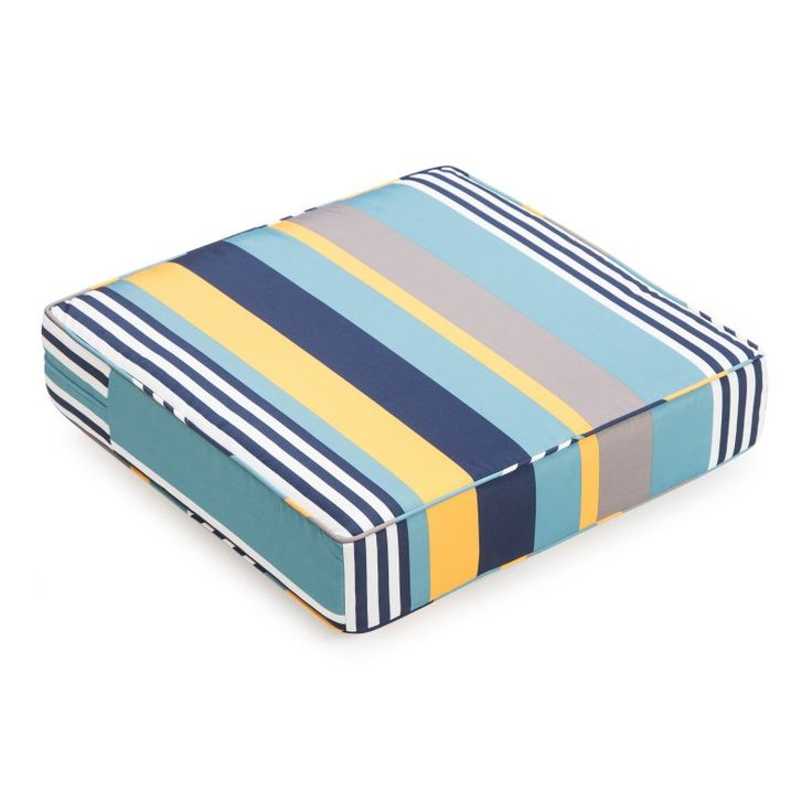 Coral Coast Classic 22.5 x 21.5 in. Outdoor Deep Seating Seat Cushion Oasis Stripe - M071-PC117-OASIS STRIPE