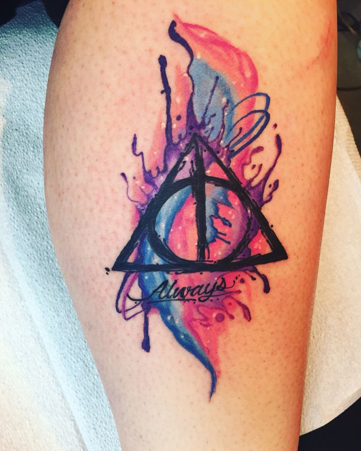 My new tattoo  Harry Potter, deathly hallows                                                                                                                                                      More