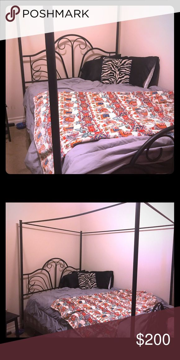 Black Canopy Bed Frame Perfect condition. Light weight