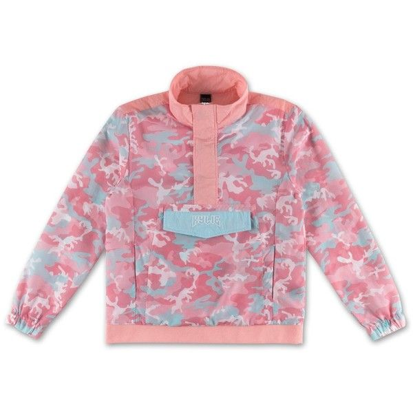 Camo Anorak Jacket Candy (92 CAD) ❤ liked on Polyvore featuring outerwear, jackets, pink anorak, pink camo jacket, pink anorak jacket, pink jacket and camo print jacket