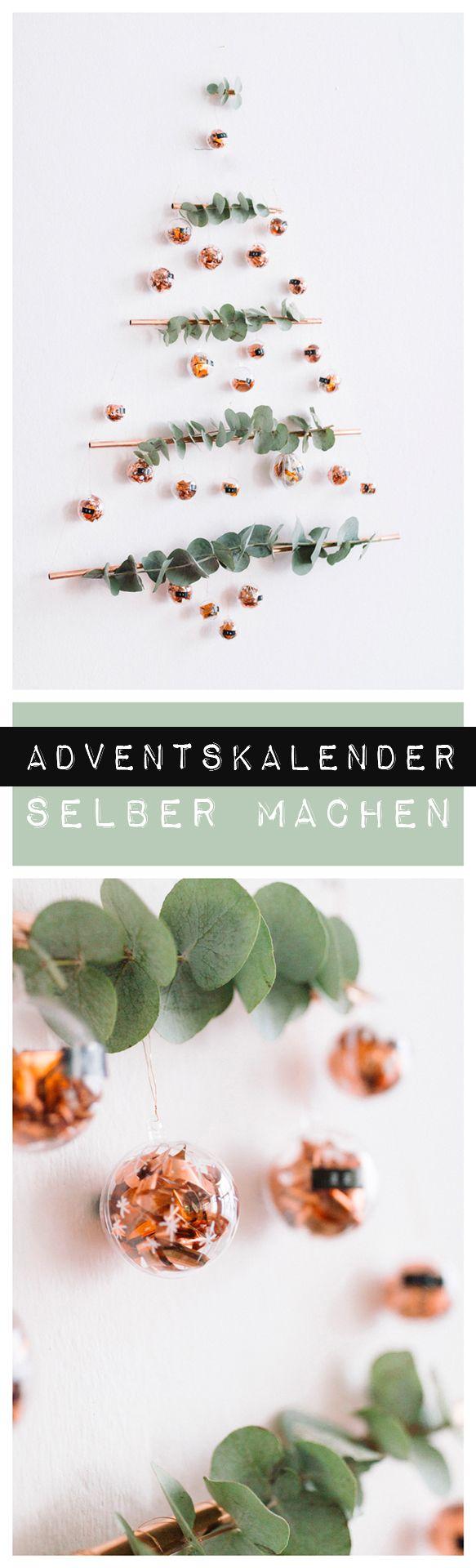 DIY Adventskalender mit Kupferrohren ganz einfach selber machen   Video Anleitung von Liz & Swantje