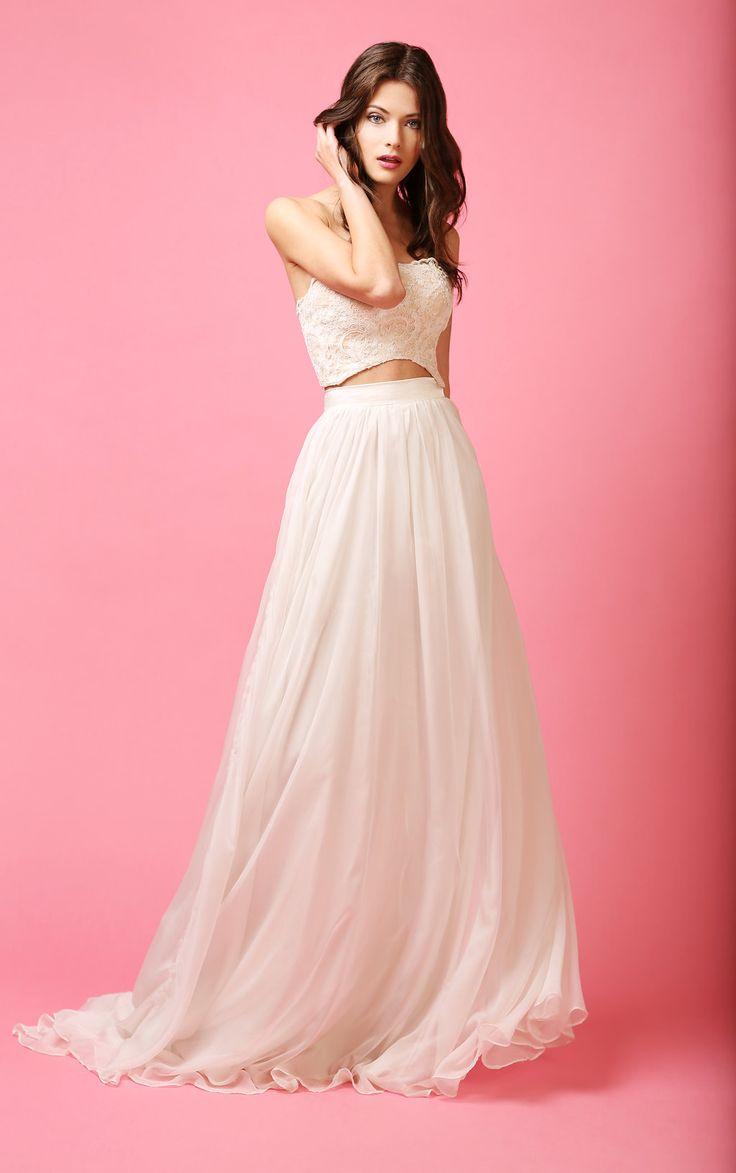 MATCH MADE BRIDAL || GRECIAN SKIRT SKIRT + ISLA TOP  #bridalseparates #lacetop #Grecianskirt #ballerinabride