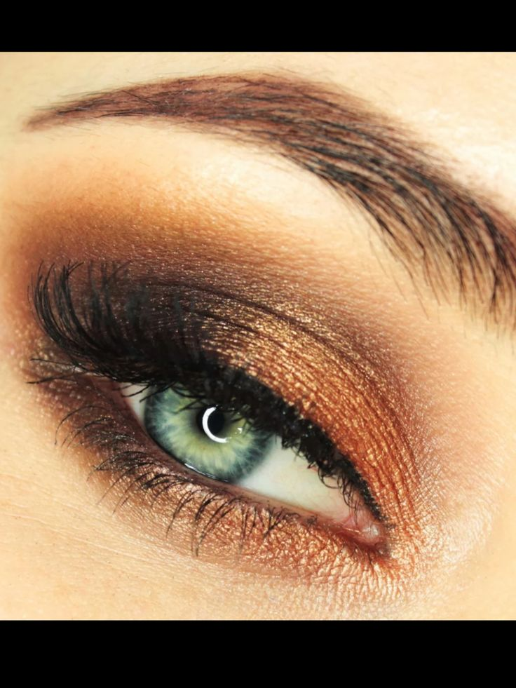 Copper brown eye   Makeup and hair ideas!   Pinterest - photo#9