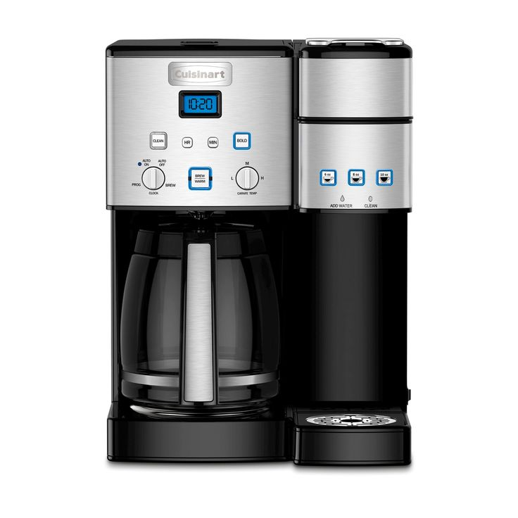 Cuisinart Combo Carafe & Single Serve Coffee Maker- Stainless Steel Ss-15, Black