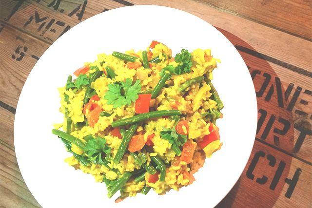 Detox proof curry recept: Madras curry met limoen. Vegetarisch, glutenvrij, suikervrij en e-nummervrij.