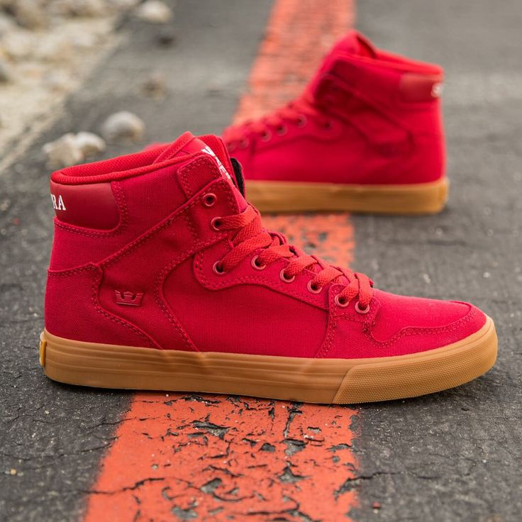 Supra Men Vaider: Cardinal Red/Gum