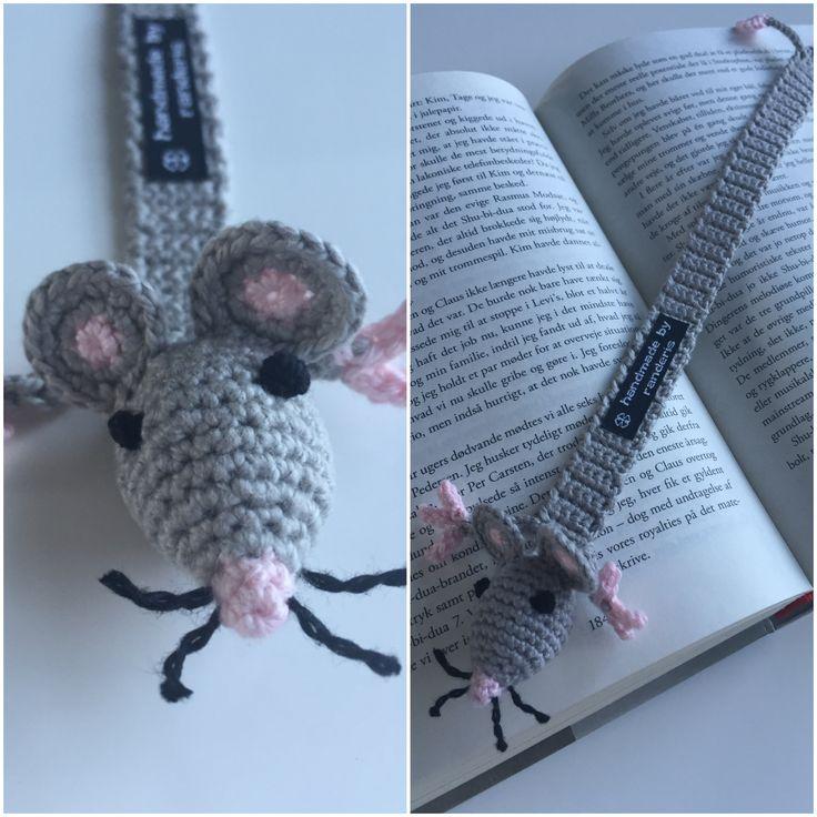 Hæklet bogmærke - mus