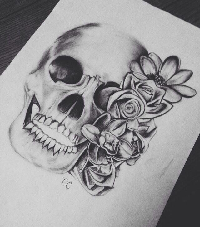 Dessin t te de mort tatoos pinterest - Tete de mort dessin simple ...