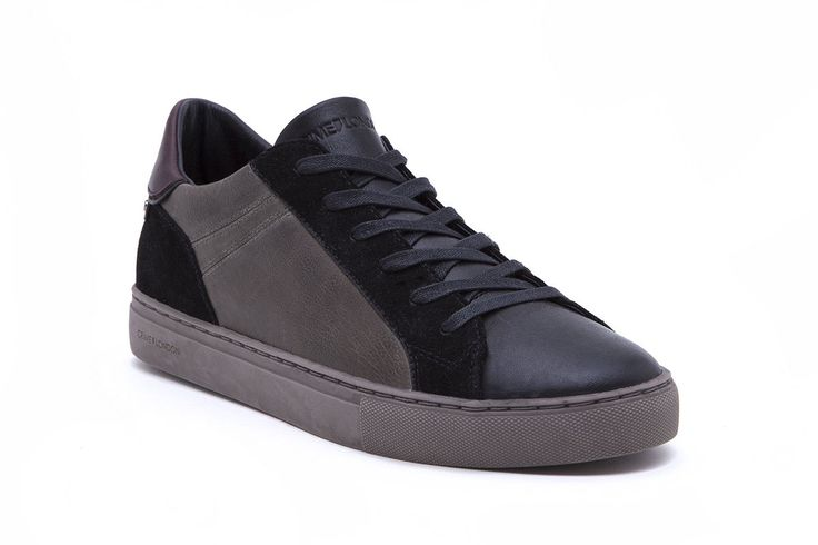 Stay cool, calm, and collected in these minimal style sneakers.  • Combination of premium Italian full grain leather and suede low cut • Leather and terrycloth lining • Rubber cup-sole • Color military • Fits true to sizeProduct Number: 11035A17 83