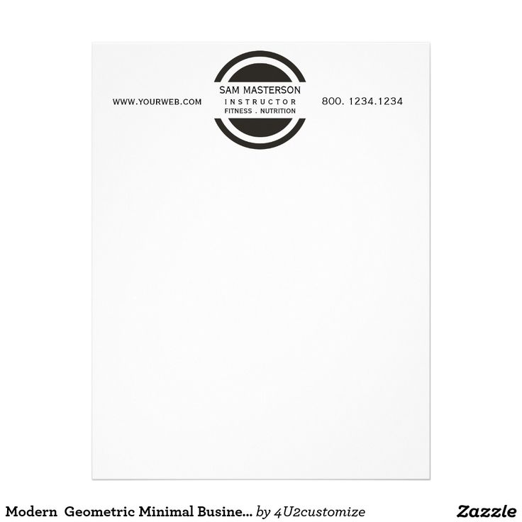 letterhead example with logo