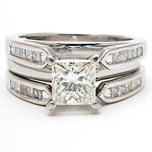 Cool  CARAT PRINCESS CUT DIAMOND SOLITAIRE ENGAGEMENT RING BRIDAL SET SOLID K WHITE GOLD