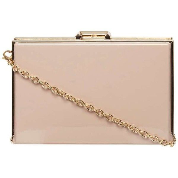 Dorothy Perkins Nude Patent Insert Box Clutch Bag (2.200 RUB) ❤ liked on Polyvore featuring bags, handbags, clutches, white, dorothy perkins, white patent handbag, patent leather handbags, patent purse and white patent purse