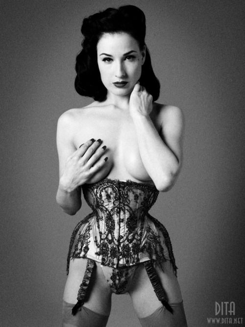 Corsetted Dita: Lingerie, Darling Dita, Corsets Inspiration, Burlesque Inspiration, Pinup Perfect, Pinup Pretty, Pin Up, Models Mad, Dita Von Teese
