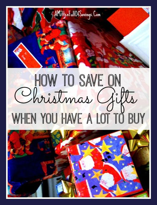 It's time to start thinking about how and what you're going to buy for all the people on your list this year.  Here's a few tips on how you can SAVE on Christmas Gifts when you have a lot to buy for without breaking the bank!!  Great Christmas Tips!