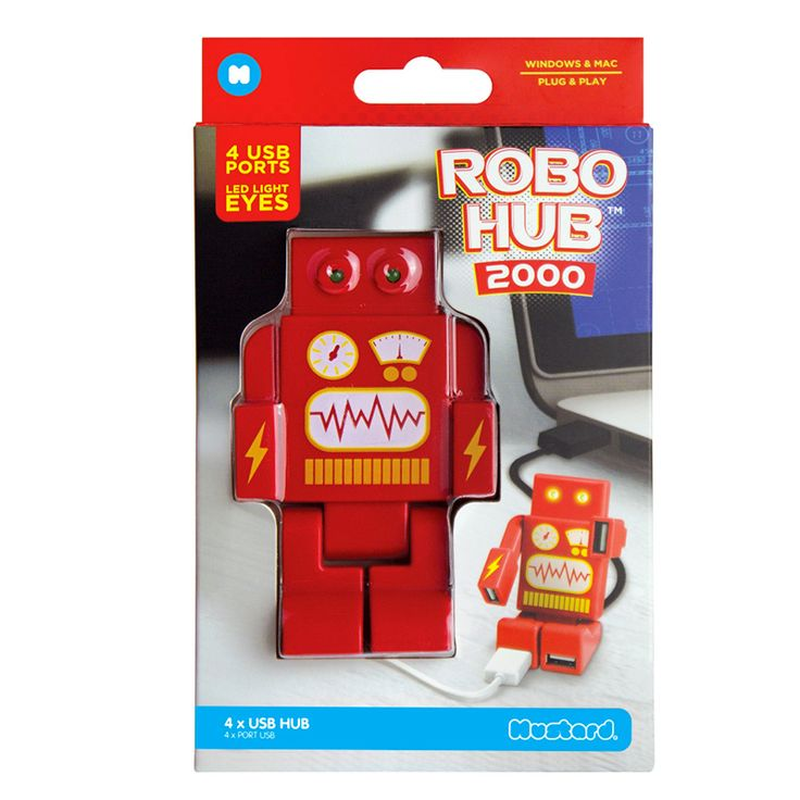 Dispositivo hub USB diseño robot | o2lifestyle