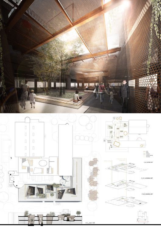Competition Asks Young Architects to Transform Abandoned Factory into Cultural Center,Mention: KenepaStudio (Andrea Gion, Elisa Zanchetta, Tania Sarria, Marco Furlan). Image Courtesy of Young Architects Competitions