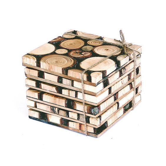 Dilimlenmiş Ağaç Dallarıyla Bardak Altlığı Nasıl Yapılır