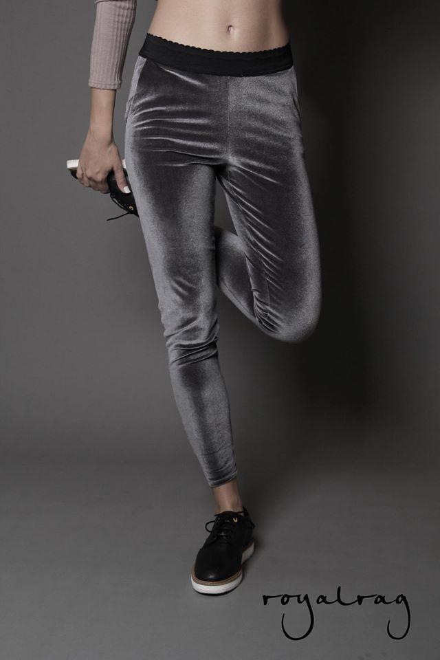 Velvet Leggings #royalrag #newcollection #velvet #leggings #grey #black #aw1415