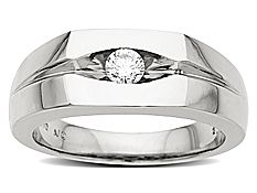 1/4 ct Men's Diamond Ring in Palladium
