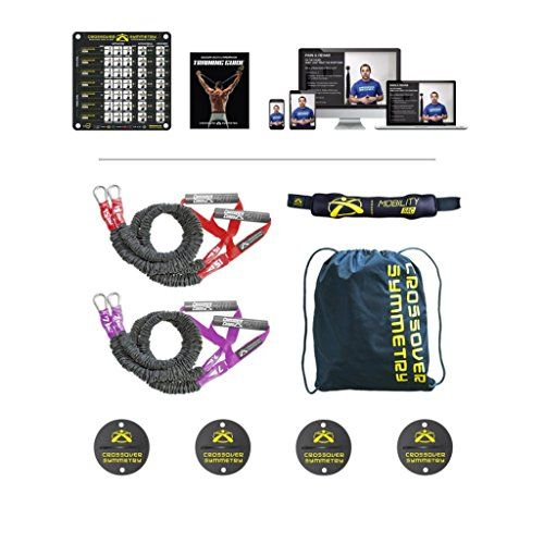 Crossover Symmetry Athletic Package with Wall Mounts  Shoulder Resistance BandsCords  Perfect for Crossfit Warmups Arm Care Rotator Cuff Exercise or Physical Rehab From Injury >>> You can get additional details at the image link. Note: It's an affiliate link to Amazon