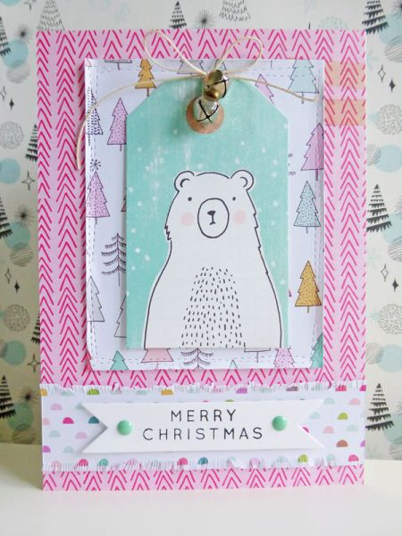Merry Christmas - 2016-10-21 - koolkittymusings.typepad.com - using @crate_paper Snow & Cocoa collection
