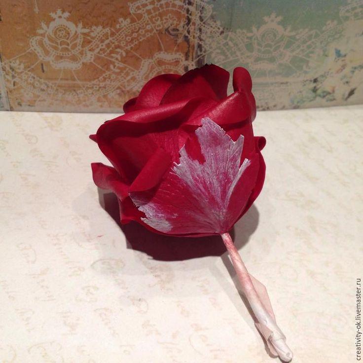 """Создаем розу """" Бордо"""" из полимерной глины. I часть - Ярмарка Мастеров - ручная работа, handmade"""