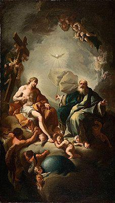 42. Paul Troger: Nejsvětější Trojice, poutní kostel Vranov u Brna