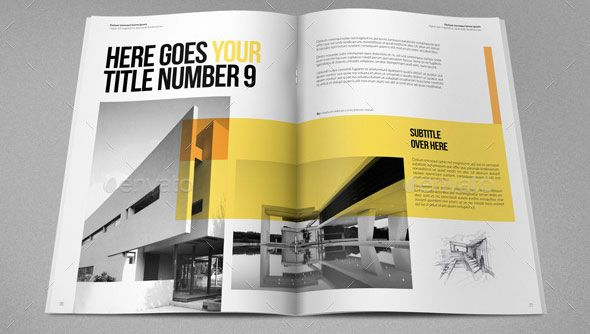 19 Minimal InDesign Magazine Templates Architecture