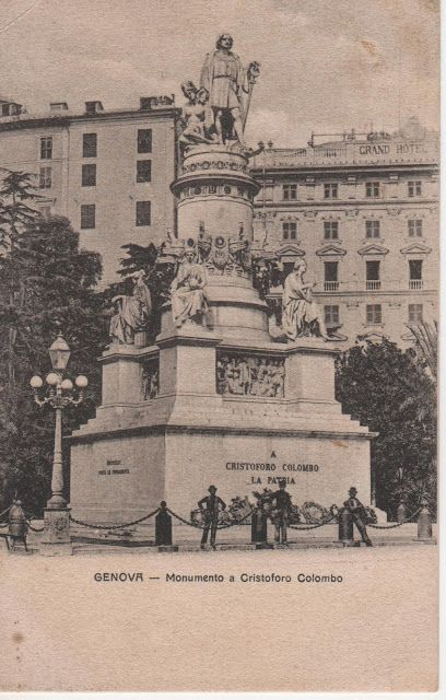 C'ERA UNA VOLTA GENOVA - 1899ca, Piazza Acquaverde (Principe rail station), with the monument to Cristoforo Colombo.
