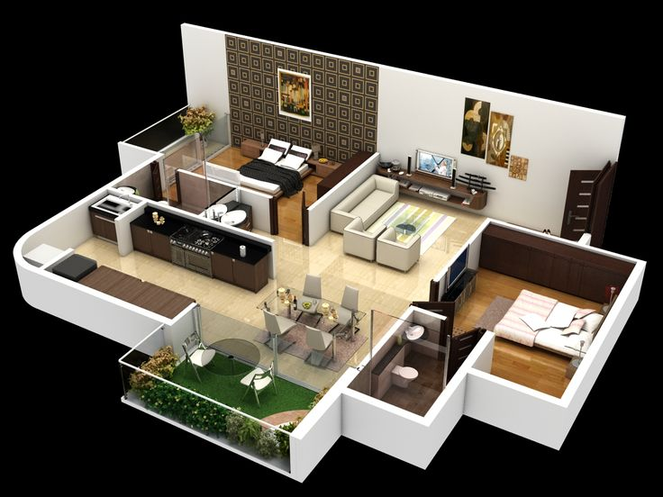 55 best Planos images on Pinterest Small houses, Floor plans and